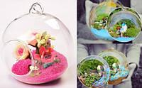 Стеклянный шар, ваза, диаметр 8 см