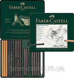 Художественных набор углей Faber-Castell PITT Monochrome  Charcoal, 24 предмета, 112978