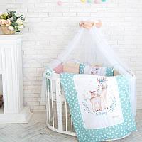 Комплект детского постельного белья Akvarel Олени, фото 1