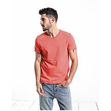 Мужская хлопковая коралловая футболка