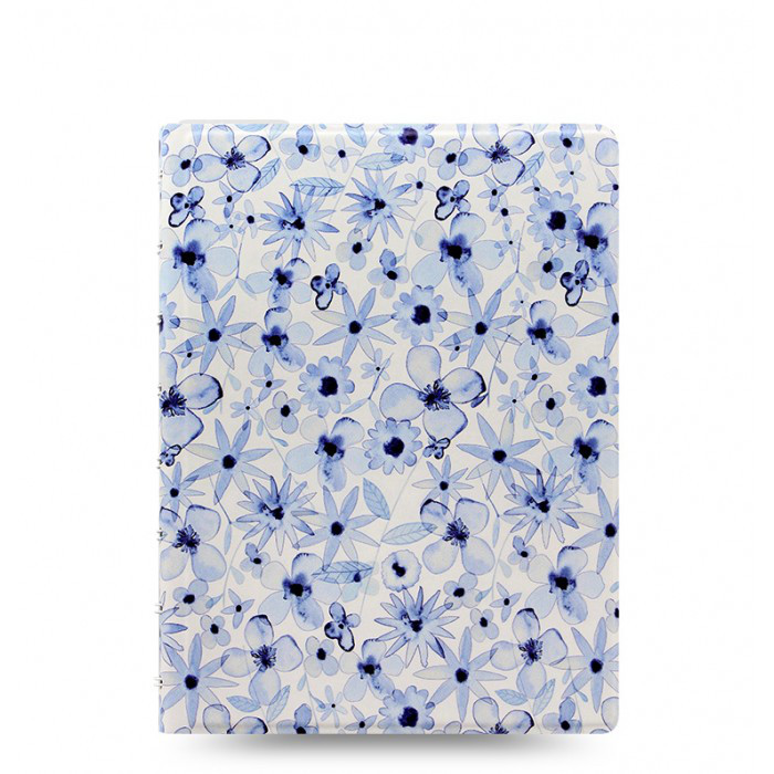 Блокнот Filofax Patterns Indigo Floral Средний А5 (16,3х21,4 см) (115055), фото 1