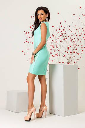 Ментоловое платье «Amanda» , фото 2