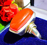 Шикарное кольцо! СЕРДОЛИК! Серебро,925