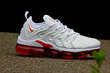 Кроссовки Nike Vapor Max TN Plus White Red. Топ качество! Живое фото (Реплика ААА+), фото 2