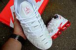 Кроссовки Nike Vapor Max TN Plus White Red. Топ качество! Живое фото (Реплика ААА+), фото 4