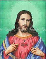 ЧВ-5206 Схема вышивки бисером «Сердце Иисуса» (A3)