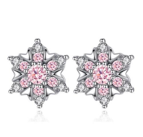 Серебряные серьги Снежинка стерлинговое серебро 925 пробы (код 0035)