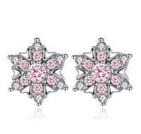 Серебряные серьги Снежинка стерлинговое серебро 925 пробы (код 0035), фото 1
