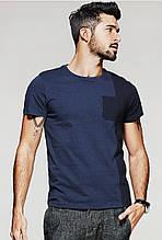 Мужская двухцветная футболка