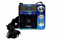 Радиоприемник Kemai MD-2807UL microSD USB FM встроенный аккумулятор, поддержка USB, mp3 плеер, для путешествий