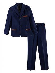 Школьный костюм двойка для мальчика синий разм 32-42