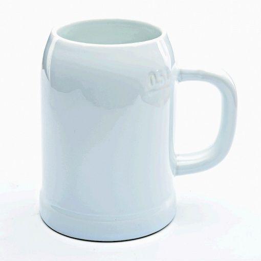 Пивной бокал для сублимации белый бочёнок 600 мл