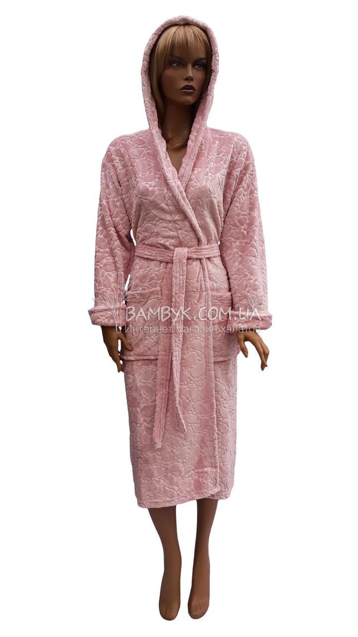 Теплый женский халат с жаккардовым орнаментом Angora Bamboo  № 360360