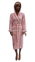 Теплый женский халат с жаккардовым орнаментом Angora Bamboo  № 360360, фото 1