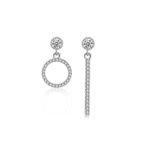 Серебряные серьги Темперамент стерлинговое серебро 925 пробы (код 0037)