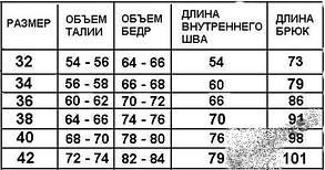 Брюки школьные, синие, разм. 32-42, фото 3