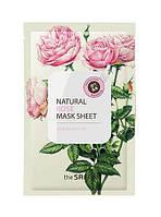 Натуральная тканевая маска для лица the SAEM лифтинг и увлажнение Роза, 21мл