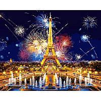 Картина раскраска по номерам на холсте 40*50см Babylon VP938 Салют над Парижем