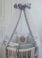 Комплект детского постельного белья  Mon Cheri серый, фото 1