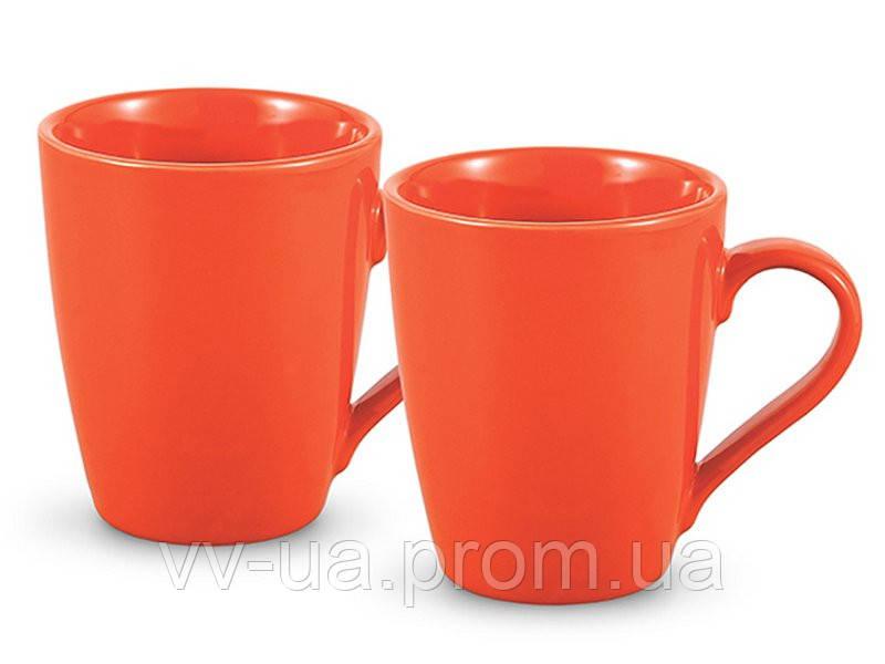 Набор из 2 кружек Fissman 9338, оранжевые (SC-9338.250)