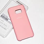 Силиконовый чехол на Samsung S7 Soft-touch Pink