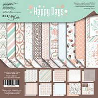 Набор бумаги для скрапбукинга Scrapmir Happy Days (англ), 20х20см