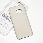 Силиконовый чехол на Samsung S7 Soft-touch Beige