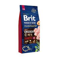 Сухой корм для пожилых собак крупных пород, Brit Premium Dog Senior L+XL, 15 кг