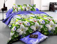 """3D Постільна білизна двоспальне """"Софія"""" - Білі квіти"""
