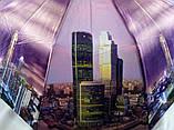 Женские атласные зонты с городами на 10 спиц антиветер, фото 2