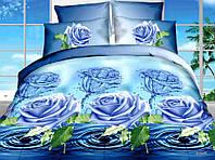 """3D Постільна білизна двоспальне """"Софія"""" - Кришталева троянда"""