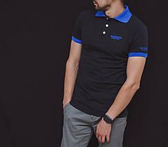 Черная мужская футболка-поло, фото 2