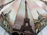 Зонты женские атласные с городами на 10 спиц антиветер, фото 3
