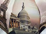 Зонты женские атласные с городами на 10 спиц антиветер, фото 4