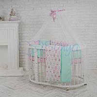 Комплект детского постельного белья  Бэби дизайн премиум Пирожные, фото 1
