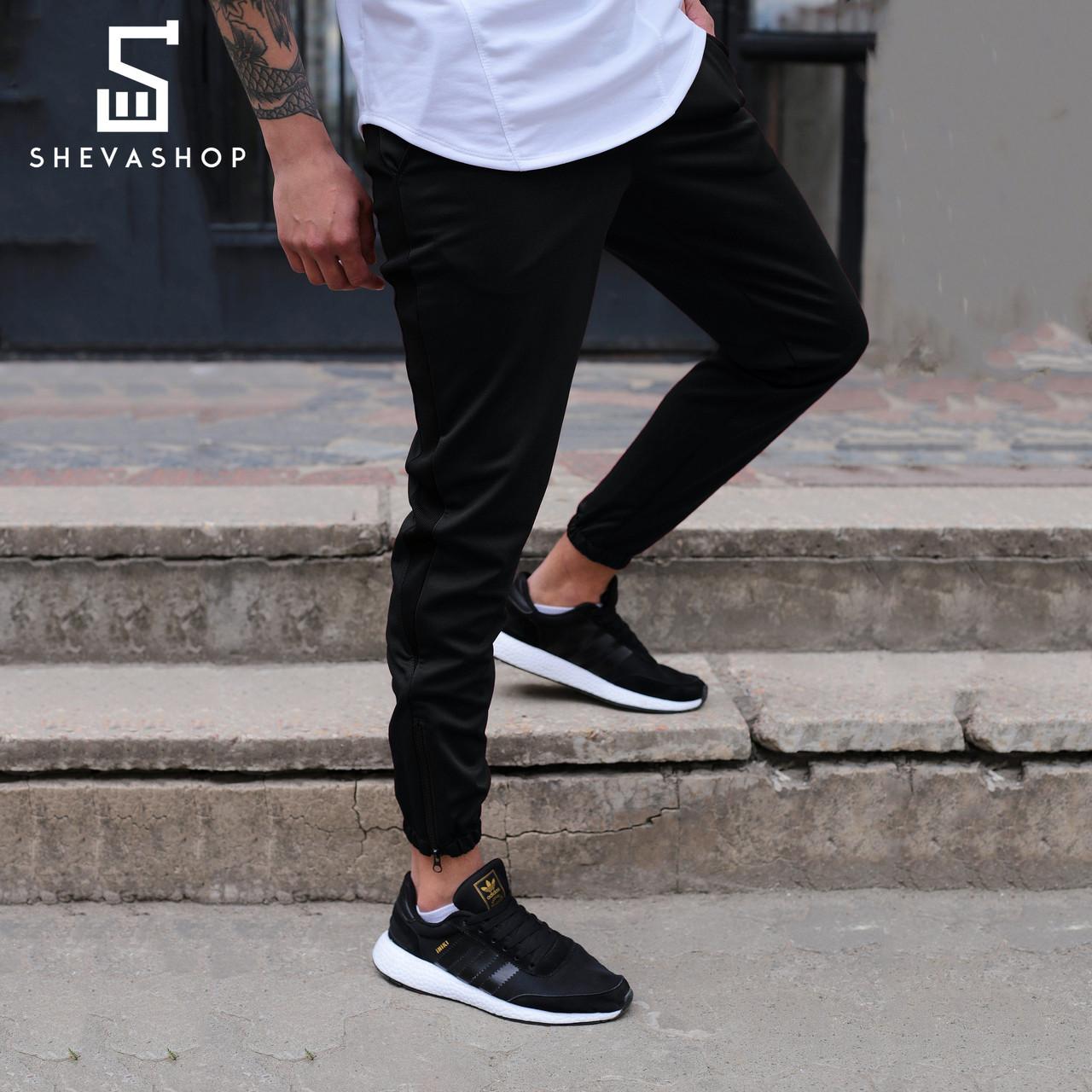 Спортивные штаны с лампасами мужские ТУР Rocky чёрные
