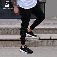 Спортивные штаны с лампасами мужские ТУР Rocky чёрные, фото 1