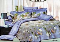 """3D Семейное постельное белье """"Ranforce"""" - голубое"""