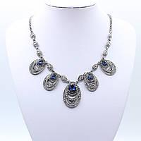 """Колье  """"Делфин""""  L-45 см декорировано кристаллами"""