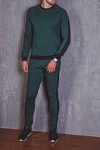 Мужской зеленый спортивный костюм с лампасами