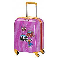 Чемодан детский Travelite Heroes Of The City на 4 колесах S, 28 л, розовый (TL071687-17)