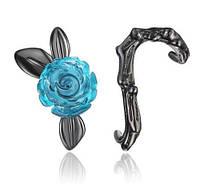 Красивые винтажные сережки в форме розы, фото 1