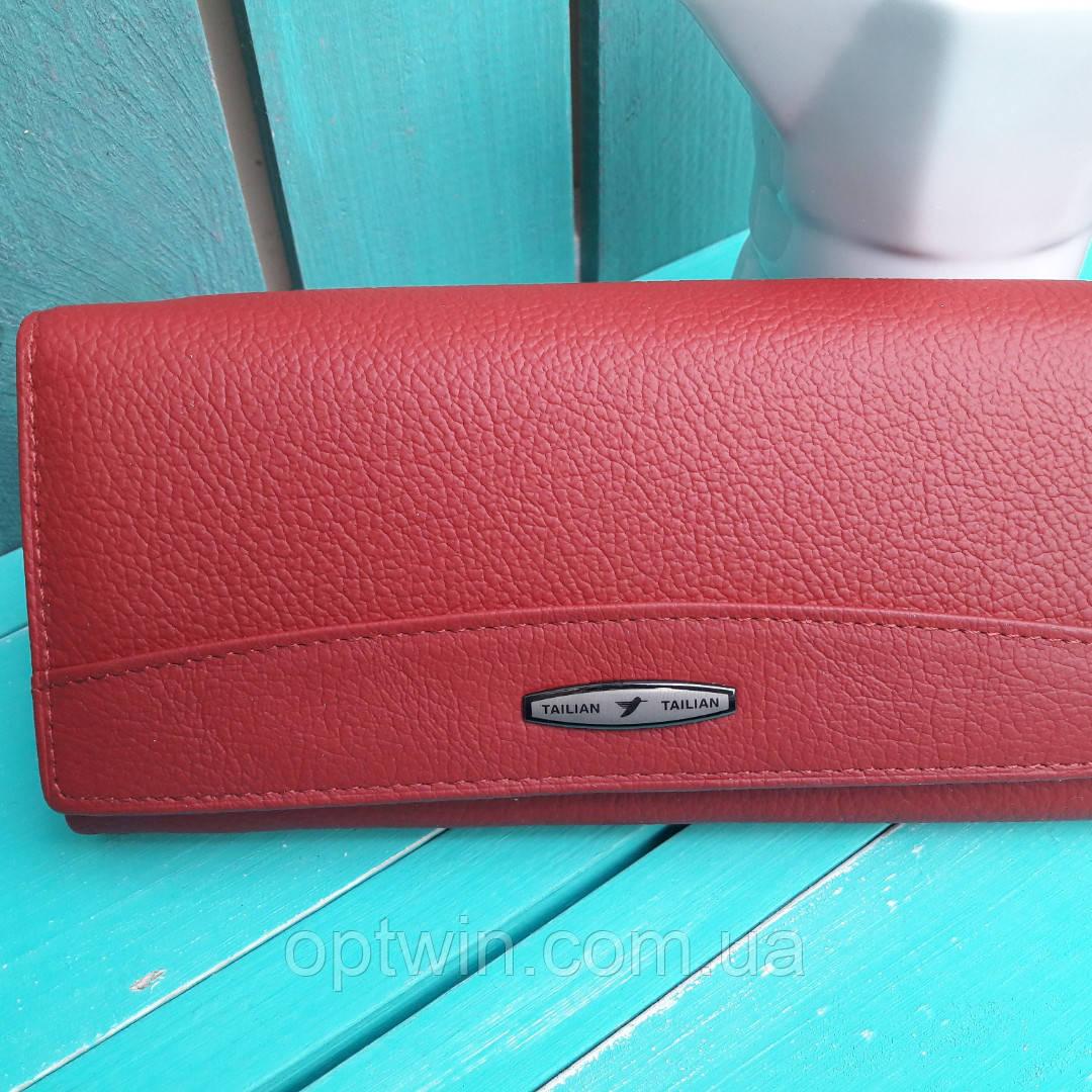 Женский кожаный кошелек TAILIAN красный, фото 1
