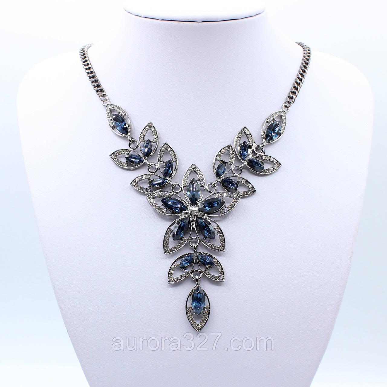 "Колье  ""Джаннет"" L-45 см декорировано кристаллами"