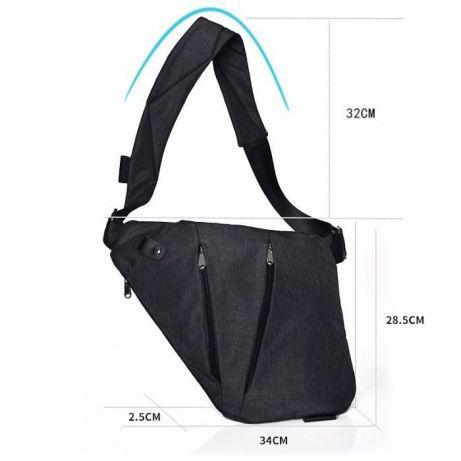 228a52bc790c Мужская сумка-кобура crossbody Lerom L99 black, цена 312 грн., купить в  Харькове — Prom.ua (ID#740527168)