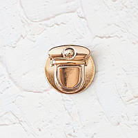 Замок для сумки круглый ZM01-3, цвет золото