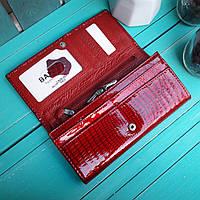 Женский лаковый кошелек BALICIA кроваво красный, фото 1