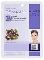 Тканевая маска для лица с коллагеном Dermal Ягоды асаи, 23г