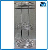 Полка хромированная сталь 3-ярусная угловая 65*19,5*19,5см