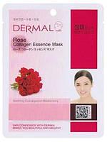 Тканевая маска для лица с коллагеном Dermal Роза, 23г